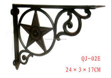 Cast iron decorative wall mount bracket,shelf bracket,metal shelf bracket