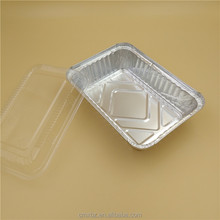 Tin aluminium disposable microwave foil food container with lid