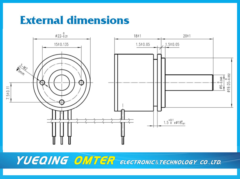 TSA22 rotary Hall effect sensors