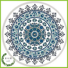2015 Australia Popular 100% Cotton Printed Round Beach Towel with Tassels