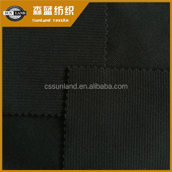 China factory sale 97% polyester 3% spandex knitted ottoman fabric for sportswear