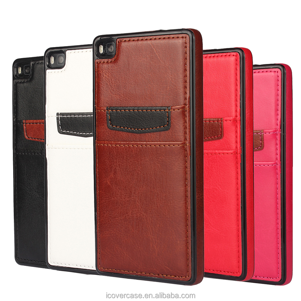 China supplier Wholesale Metro Crazy Horse Genuine Leather Cover Case For Huawei P8