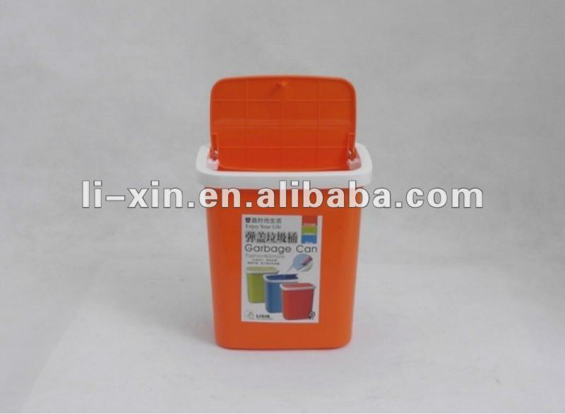 plastic turning cover dustbin