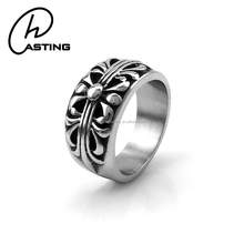 Stainless Steel Jewelry 1 Dollar Cheap Mens Gothic Rings