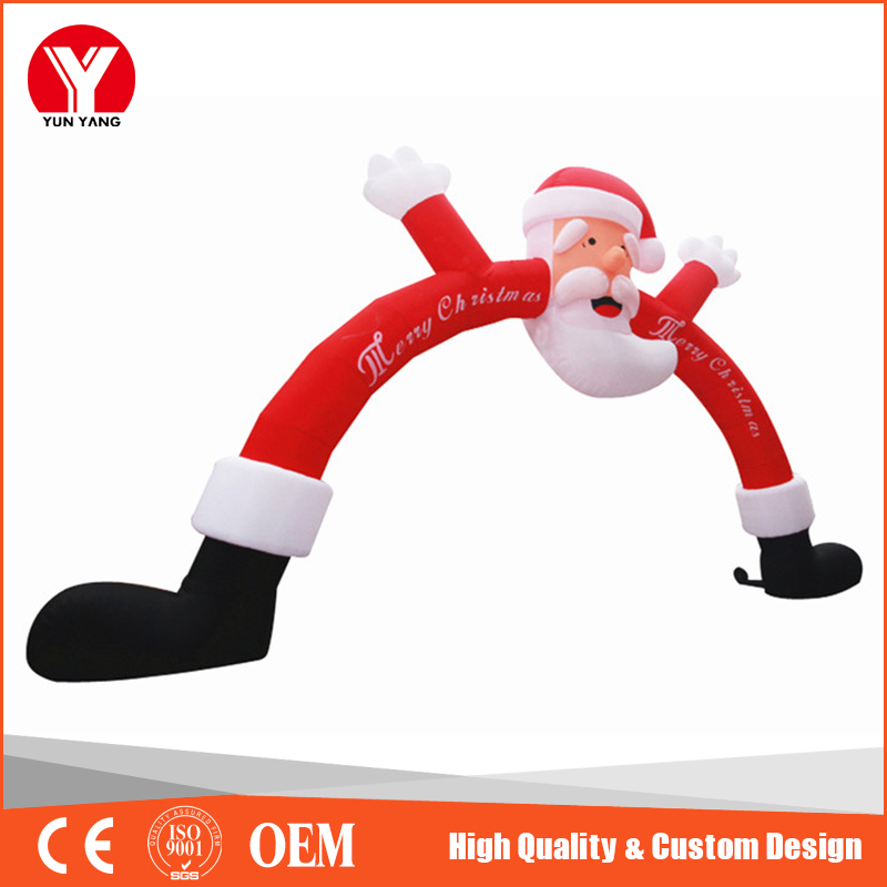 2016 Hot inflatable Christmas Santa arch, decorative Christmas arches
