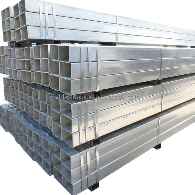 China manufacturer tube erw ms square pipe price galvanized square structure steel pipe tube