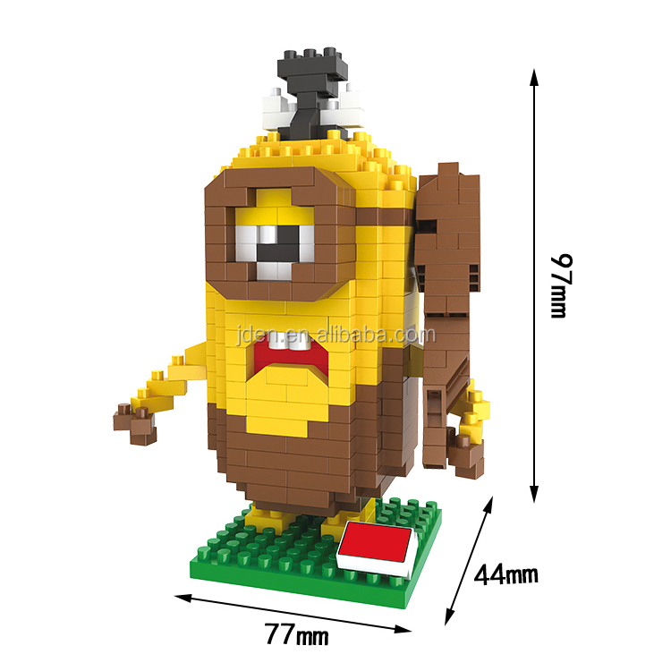 HSANHE Small Cute Minion Soft Plastic building blocks toys For Preschool