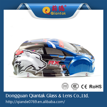 Plastic Custom RC Racing Car Body Shell Cover, 1:10 PVC Blister Printing Elastic Shell For Sale