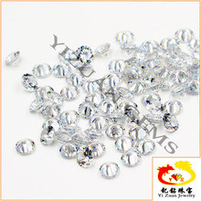 Loose gemstone Natural white Sapphire round cut stones for jewelry sets