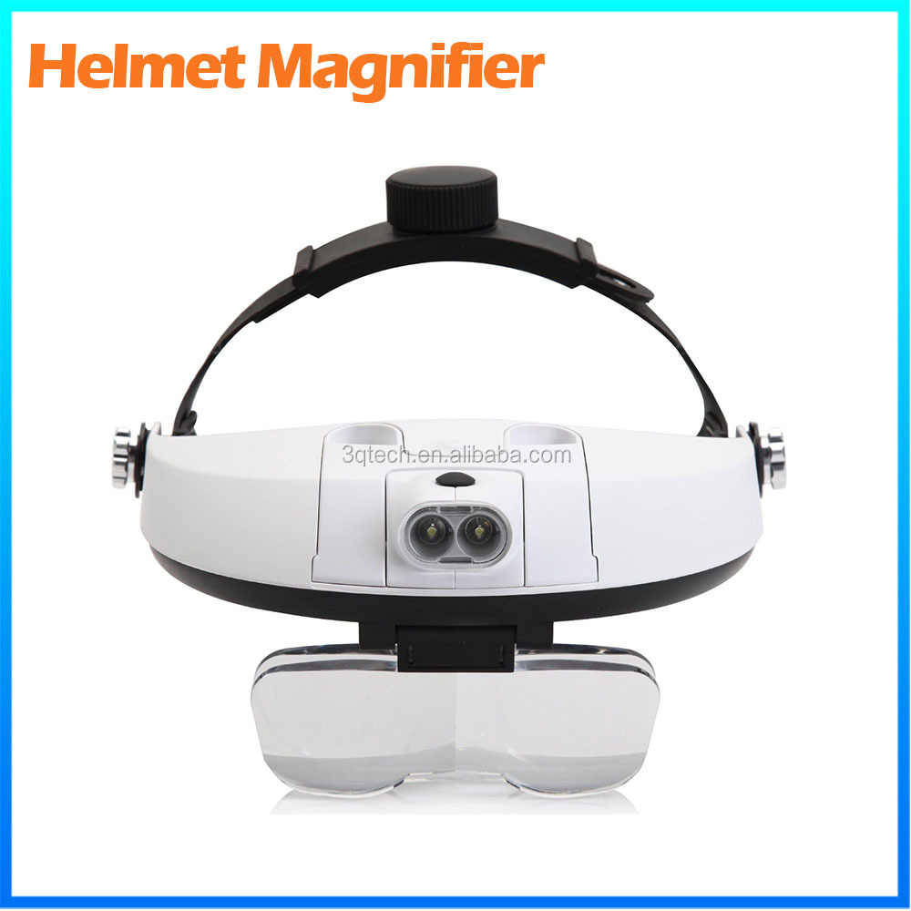 DH-87002 1.5X Repair Tool Binocular Visor Led Magnifier Loupe , Eyeglass Magnifying Glass For Reading
