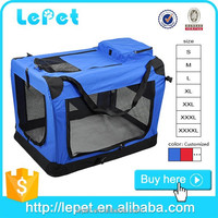 Comfort travel portable and foldable dog carrier bag car dog crates
