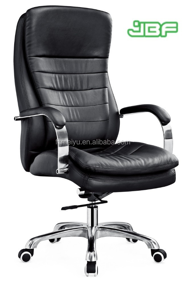 Relaxing full leather high back double-layer comfortable office chair conference chair with castors-9755