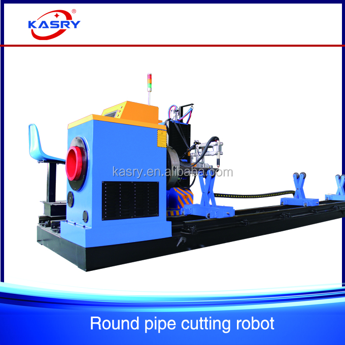 5 axis elbow cut cnc plasma pipe cutting beveling machine used for 600mm round pipe KR-XY5