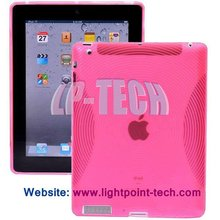 New TPU Rubber Skin Case with Concentric Circle stytle for Apple iPad 3