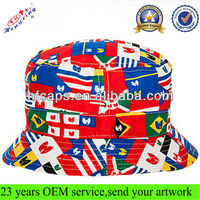 fashion woven logo 100 cotton mens aztec custom bucket hat