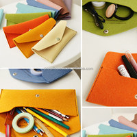 2017 hot sell high quality fashion light design wholesale cheap handmade polyester felt multifunction pencil case made in China