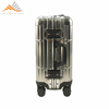 Telescopic Handle Custom Trolley Luggage Aluminum Suitcase