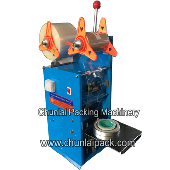 plastic cup sealing machine