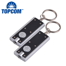 Best Promotional Gift Mini Keychain LED Flashlight PVC LED Keyring