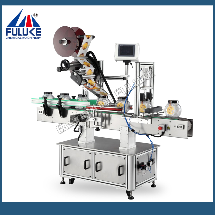 FLK high quality cup labeling machine, tube-cup labeler, coffee cup labeling machine