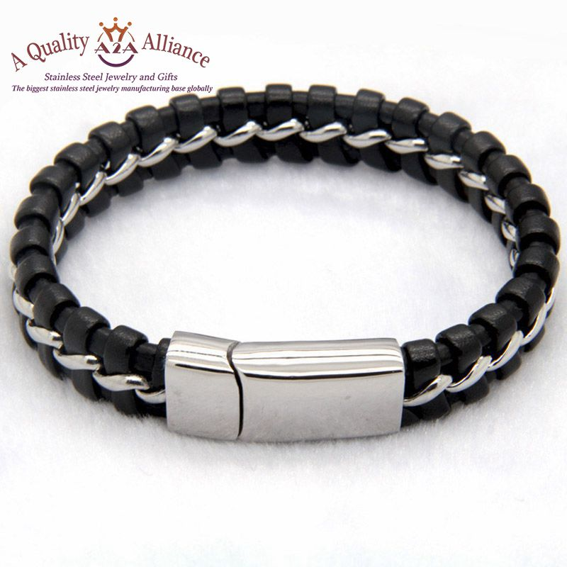 Top Quality OEM charms bracelet brand stainless steel jewelry cheap wholesale bangles
