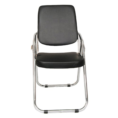 Furniture Thick Padded Metal Folding chromed chair