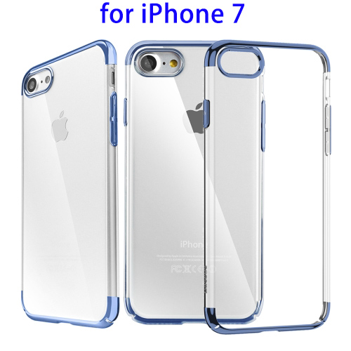 Transparent Price Fashion Glitter Case, Electroplating Frame PC Protective Case for iPhone 7