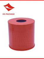 cylindrical paper tissue box