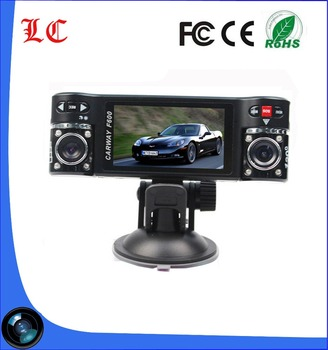 F600 2.7' dash cam 120 view angle dual camera car dvr with night vision