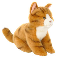 cute lifelike brown cat plush toy