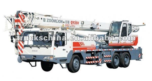 Zoomlion 5-section telescopic boom truck crane 25 ton