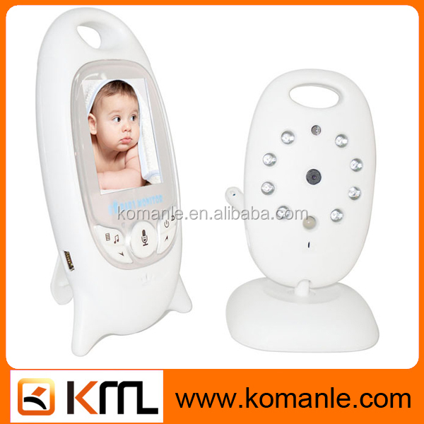 Colors Video wireless baby monitor with 8 Lullabies camera 2 Way Talk Nigh Vision IR LED Temperature Monitoring