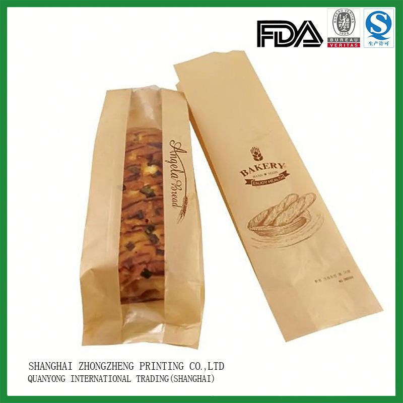 Fda Certificated Custom-Made Bread Bag Rolls Paper Packaging