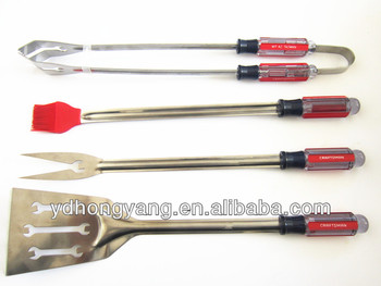 New shape-4 Pieces stainless steel bbq tools/BBQ Tools