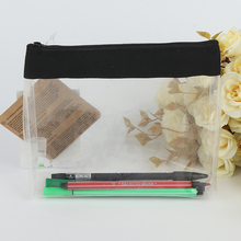 promotional custom logo printing transparent eco-friendly zipper lock pvc pencil bag