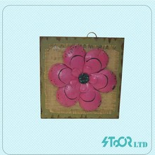 Traditional shabby chic wood craft wall decoration