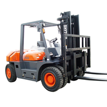 7000 Kg Forklifts Heavy Duty Double Front Wheels Diesel Fork lifter