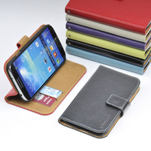 For Samsung Galaxy S4 GENUINE LEATHER Wallet Card Holder+Pouch+Stand Filp Case Cover OC-2S