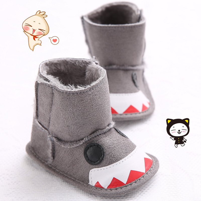 Fashion First walkers Chaussures Bebe Toddler Baby cute cartoon Soft Cotton Bottom Sole Crib Antiskid Infant Warm Winter Boots