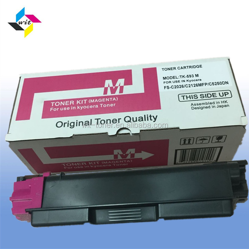 Compatible color toner cartridge for Kyocera FS-C2026/C2126MFP/C5250DN/P6026 , TK-593/TK-590/TK591/TK-592/TK-594