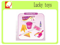 Plastic mini house toy,Home cleaning set,Cleaning play set toy