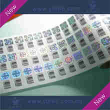 New high quality barcode hologram anti-counterfeiting label