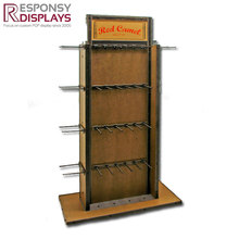 Durable custom logo wooden handbag display stand bag display cabinet