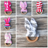 In Stock ! custome mixed colour toys Teething Ring baby teething on toys