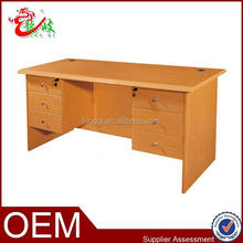 top quality pvc material bedroom furniture office computer table with drawers
