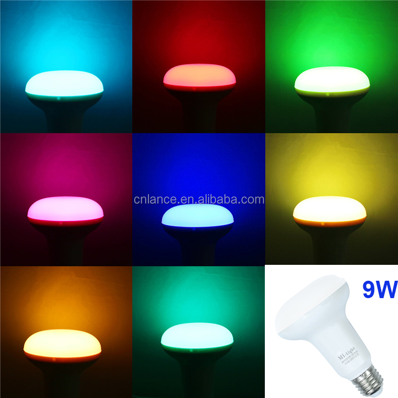 2.4G wireless Mi Light RGBW RGBWW dimmable LED Bulb 5W 6W 9W AC85-265V E14 E27 Par30 Led Lamp Wifi Control Led ligh