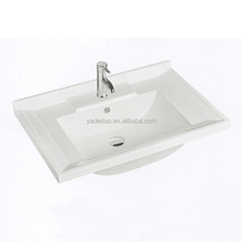 China high quality ceramic toilet sink with vanity top porcelain bathroom cabinets middle edge sink for bar counter