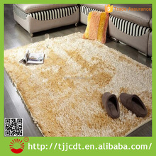 shiny shaggy cheap high quality floor rug