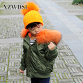 CX-G-C-08D Oem Service New Fashion Winter Faux Fur Lining Bomber Jacket For Kids