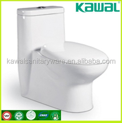 Cheap two-piece washdown flushing toilet design